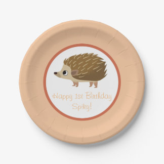 Puffin Rock Party Plate - Spiky