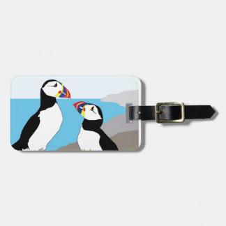 Puffin Sea Birds Luggage Tag