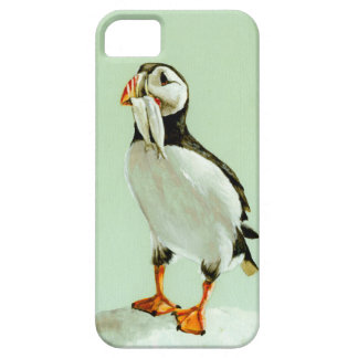 Puffin with Fish iPhone 5 Covers