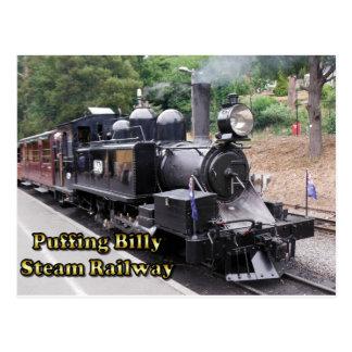 Puffing Billy Historic Steam Train in Australia Postcard