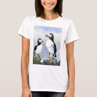 Puffins Fitted Tee Shirt
