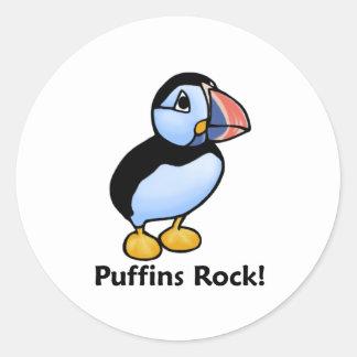 Puffins Rock! Classic Round Sticker