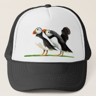 Puffins Seabirds in Watercolour Paints Artwork Trucker Hat