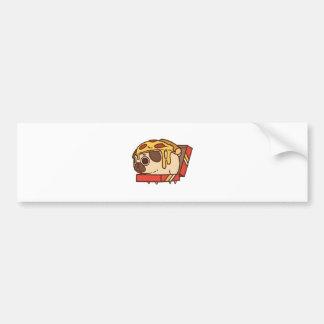Pug-01 pizza bumper sticker