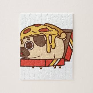 Pug-01 pizza jigsaw puzzle