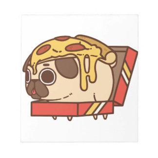 Pug-01 pizza notepad