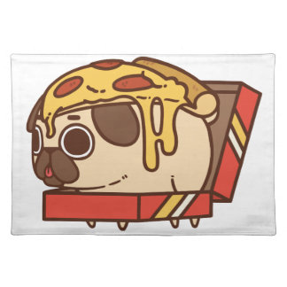 Pug-01 pizza placemat