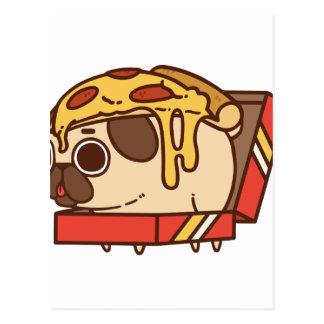 Pug-01 pizza postcard