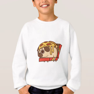 Pug-01 pizza sweatshirt