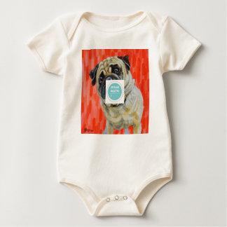 Pug 0range baby bodysuit