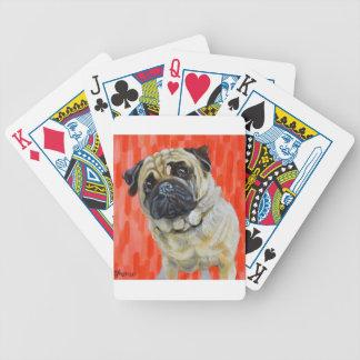 Pug 0range bicycle playing cards