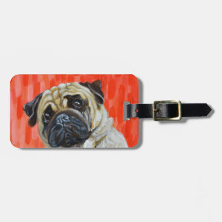 Pug 0range luggage tag