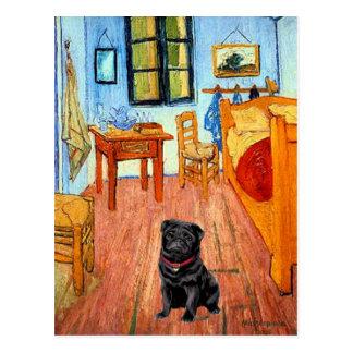 Pug 17 (black) - The Room Postcard