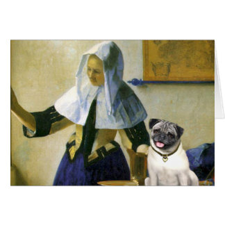 Pug 18 (fawn) - Woman with Pitcher Card