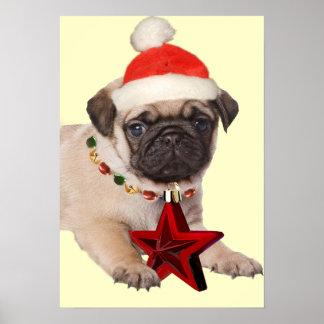 Pug A Christmas Star Print
