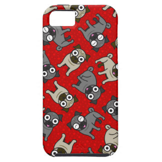 Pug-a-Dot (Red) iPhone 5 Case