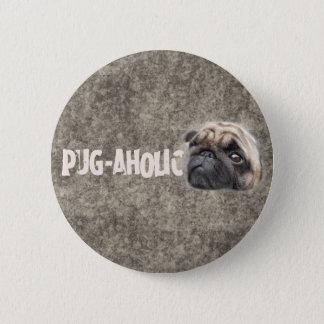 Pug-aholic 2 Inch Round Button
