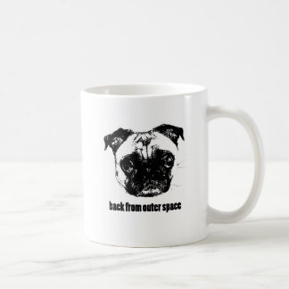 pug alien - back from outer space coffee mug