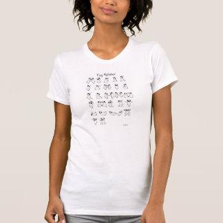 Pug Alphabet A-Z (front design) T-Shirt