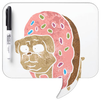 pug and donut. dry erase whiteboards