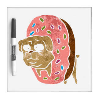 pug and donut. Dry-Erase whiteboards