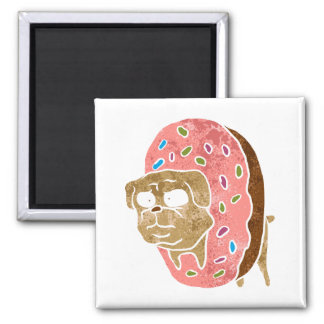 pug and donut. magnet