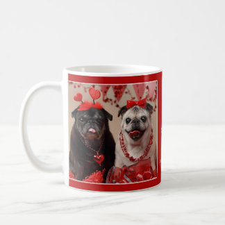 Pug and Kisses Valentine Pug Mug