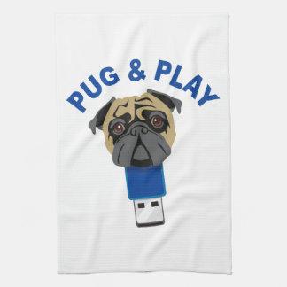 Pug and Play Hand Towel