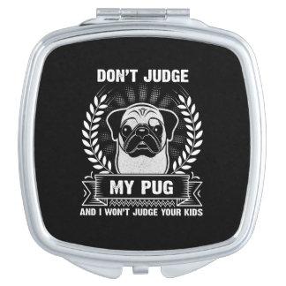 Pug Animal Compact Mirrors