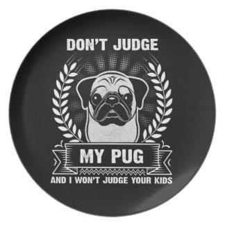 Pug Animal Dinner Plate