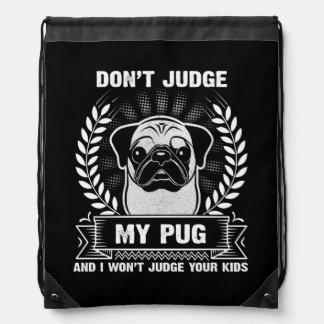 Pug Animal Drawstring Bag