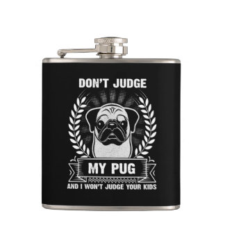 Pug Animal Hip Flask
