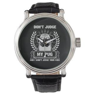Pug Animal Watches