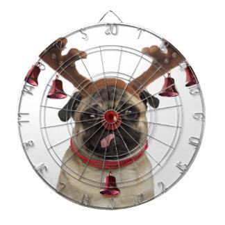 Pug antlers - christmas pug - merry christmas dartboard
