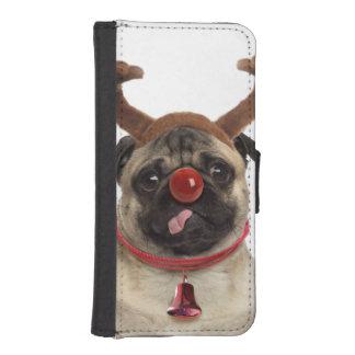 Pug antlers - christmas pug - merry christmas iPhone SE/5/5s wallet case