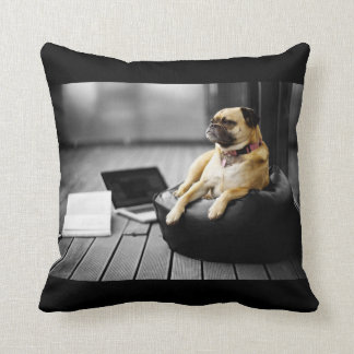 Pug at Rest Throw Pillow