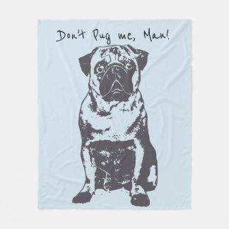 Pug Baby Blanket,  Pug Home Gift Fleece Blanket