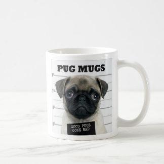 pug bad basic white mug