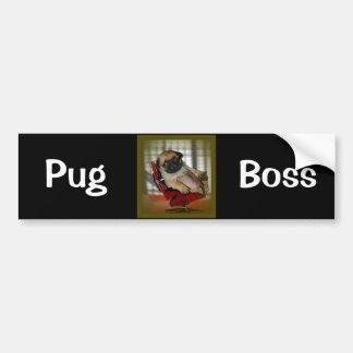 Pug Boss Bumper Sticker