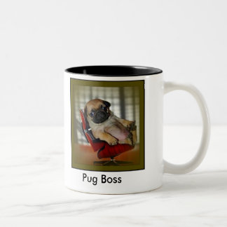 Pug Boss Two-Tone Coffee Mug