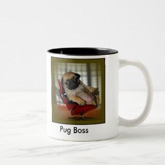 Pug Boss Two-Tone Coffee Mug