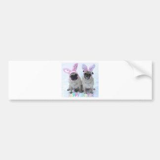 Pug bunny's bumper sticker