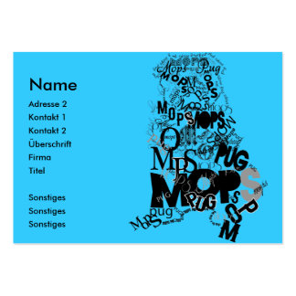 Pug Large Business Cards (Pack Of 100)