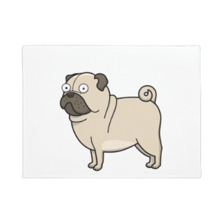 pug cartoon full doormat