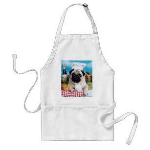 How to Be Truly Content in Life Pug Chefs Apron