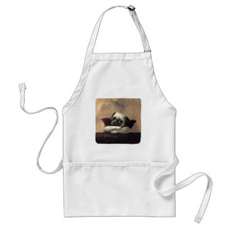 Pug Cherubs Inspired by Raphael Aprons