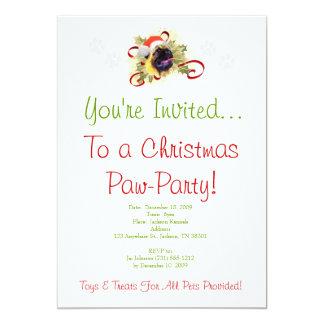 Pug Christmas Invitation
