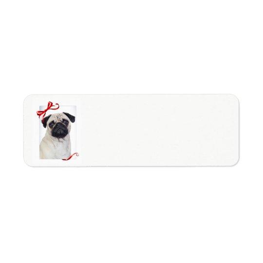 Pug Christmas Return Address Labels