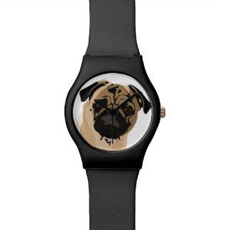 Pug clock/black watches