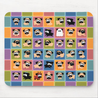 Pug Color Square Mousepad